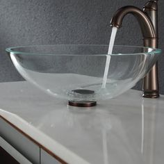 Add A Touch Of Elegance To Your Bathroom With A Kraus Clear Glass Vessel  Sink And Faucet Combination. Handcrafted From Tempered Glass, The Modern Bu2026