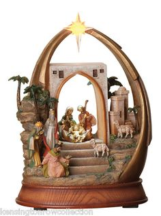 Fontanini Nativity Glitterdomes, Water Globes, Music Boxes and Ornaments Christmas Store, Christmas Nativity, All Things Christmas, Water Globes, Snow Globes, Fontanini Nativity, Arch Decoration, Happy Birthday Jesus, Meaning Of Christmas