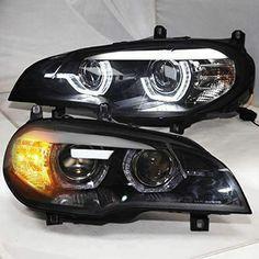 BMW E70 HEADLIGHTS LED – Motowey Bmw X5 E70, Led Headlights, Cool Stuff, Car, Model, Automobile, Led Spot Light, Scale Model