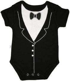 Funny Baby One-Piece Bodysuit  Tuxedo (3-6 months)  Frenchie Mini Couture