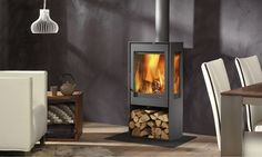 The Kalle is a classic free standing stove with 2 large side windows to give a really good view of the flames. With a nominal heat output of 4 kWs and an efficiency rating of 85%.