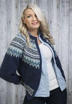 no - Viking Alpaca Fine Vårkofta Fair Isle Knitting Patterns, Sweater Knitting Patterns, Knitting Designs, Knitting Yarn, Knitting Projects, Norwegian Knitting, Cardigan Design, Icelandic Sweaters, Nordic Sweater