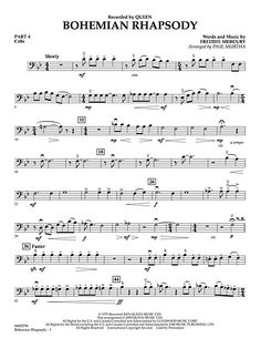 Mama Just Killed A Man Bohemian Rhapsody Sheet Music Easy 50 Bohemian Rhapsody Edelweiss Trombone Sheet Music, Cello Music, Piano Sheet Music, Flute Sheet Music Disney, Clarinet, Viola Sheet Music, Trumpet Sheet Music, Partitions Trombone, Partition Disney
