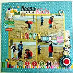 scrapbook layout created by subscriber Ariane Kring