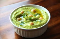 Cilantro Jalapeño Hummus with Baked Tortilla Chips Recipe - RecipeChart.com