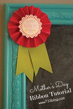 Your kids can easily make this DIY Mother's Day Ribbon craft to give to their moms this holiday!