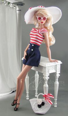 YACHT CLUB Fashion for Poppy Parker, Silkstone and Victoire dolls