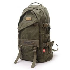 a39002d982d2 Online Shop 2015 New designer Men Fashion man casual shoulder travelling  bags canvas military camping hiking backpack army backpack male