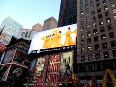 [직캠] 무한도전 뉴욕 타임스퀘어 비빔밥 광고!!