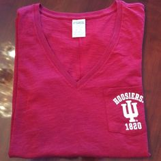New Victoria Secret Pink Indiana University TShirt New without tags.  Perfect condition! Victoria's Secret Tops Tees - Short Sleeve