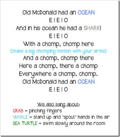 Ocean theme vocab