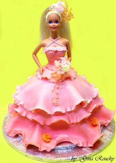 Pink Barbie Fondant 3 layer frill