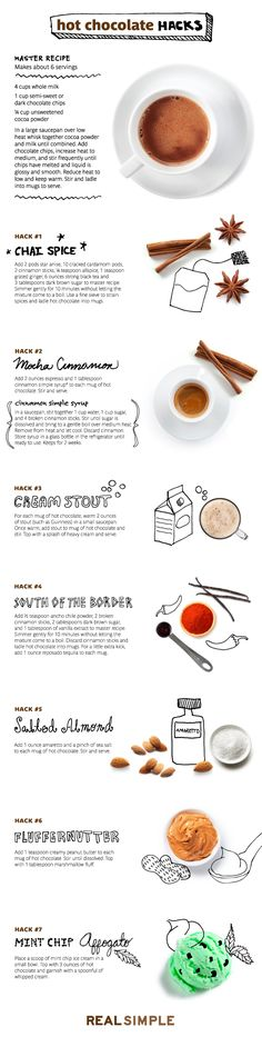 hot chocolate hacks