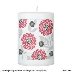 Contemporary Mums Candle