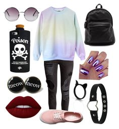 """""""Untitled #124"""" by skohler0960 on Polyvore featuring Vans, Monki, Valfré and Lime Crime"""