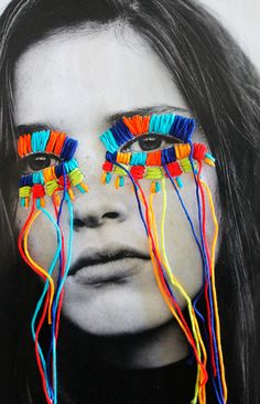 El arte urbano textil con aire mexicano de Victoria Villasana The urban textile art with Mexican air of Victoria Villasana 3 Collage Kunst, Art Du Collage, Collage Photo, Collage Design, Collage Ideas, Kids Collage, Collage Portrait, Collage Drawing, Portrait Ideas