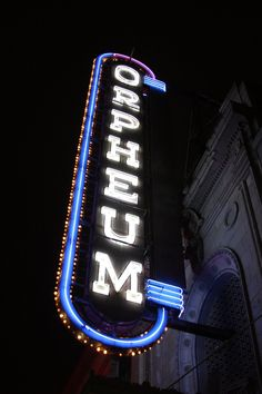 The Orpheum theatre in Vancouver, BC at night. Orpheum in Lights Photo Wall Collage, Picture Wall, Aesthetic Iphone Wallpaper, Aesthetic Wallpapers, Ghost Boy, Blue Aesthetic, Cool Bands, Cute Wallpapers, Favorite Tv Shows