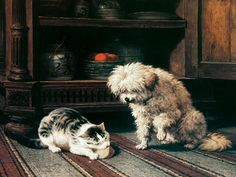See Who Gets the Cheese by Henriette Ronner Knip | Art Posters & Prints