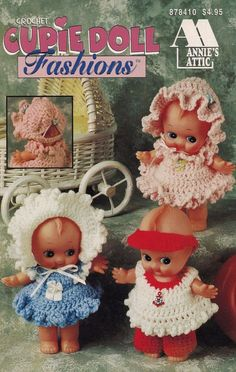 Your place to buy and sell all things handmade Crochet Doll Clothes, Doll Clothes Patterns, Crochet Dolls, Cupie Dolls, Kewpie Doll, Diy Crochet, Crochet Pattern, Black Betty Boop, Annie's Attic
