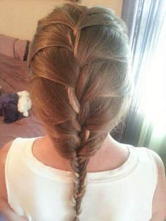 French braid into a fish tail