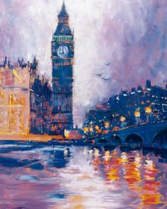 Should I paint one of mom and dad's London photos as a Christmas present?
