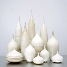 12 Piece Ceramic  Bottle Vase  Collection in Striped by sarapaloma, $1610.00