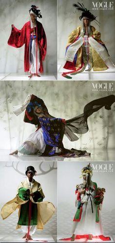 Hanbok in Vogue Foto Fashion, Fashion Shoot, Asian Fashion, Fashion Art, Editorial Fashion, Fashion Design, High Fashion, Korean Hanbok, Korean Dress