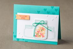 The jar images from the Jar of Love stamp set were sized to work together on your projects. #stampinup