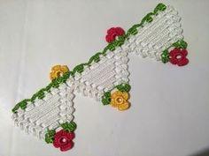 Crochet Towel Edge Model / NEW Design / Full Narration - Knitting a love Crochet Towel, Crochet Doilies, Crochet Flowers, Crochet Lace, Baby Knitting Patterns, Crochet Border Patterns, Knitting For Beginners, Filet Crochet, Crochet Fashion