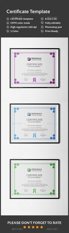 Certificate Certificate templates, Certificate design and - certificate template software
