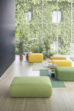 PLUS: modular designer sofas and elements – Lapalma – Office lounge Lounge Design, Sofa Design, Lobby Interior, Office Interior Design, Office Interiors, Leather Living Room Furniture, Lounge Furniture, Furniture Design, Office Lounge