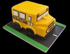 School Bus Cake - by The SweetBerry @ CakesDecor.com - cake decorating website
