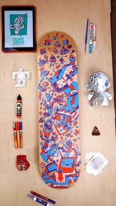 I love freestyle painting these decks as a way of getting away from the screens. It gives me ideas for other work too. Scribble, Dune, Screens, Decks, Original Artwork, Give It To Me, Digital Art, Photo And Video, Wall Art