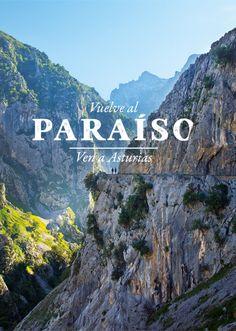Ruta del Cares, garganta divina #Asturias #España #Spain #senderismo #trekking #hiking #PicosDeEuropa Spain, Hiking, Mountains, City, Nature, Pictures, Travel, Landscape Rocks, Trekking