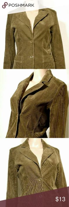 H&M Womens Brown Corduroy Button Blazer Jacket Size: 8 S SMALL In Very good condition!! Very adorable!! A great gift!! Fast shipping!! H&M Jackets & Coats Blazers