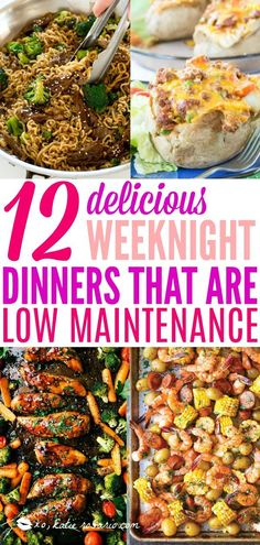12 Delicious Weeknight Dinners That are Low Maintenance | Turns out you can easily make delicious and exciting meals that are really low maintenance. During your busy weeknights try these quick and easy recipes that take under 30 minutes to prepare. Don't let you busy weeknights stop you from enjoying a delicious dinner! Here's 11 Low Maintenance Dinner Recipes that you can make on busy weeknights! #xokatierosario #easydinners #lowmaintenance #quickdinner