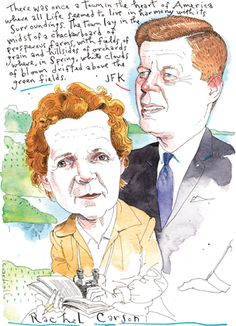 """On JFK's bookshelf in Hyannis Portsat two books by Rachel Carson:The Sea Around UsandThe Edge of the Sea.""  via Audubon Magazine's ""Rachel Carson & JFK, An Environmental Tag Team""]"