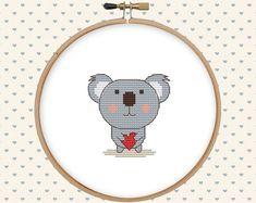 Counted cross stitch pattern  koala bear cross by GentleFeather