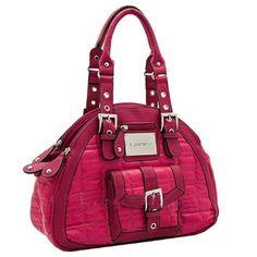 Valentino Hot Pink 3 Compartment Handbag Purse $127.99