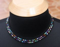 Saraguro Hand Beaded Necklace by LaBellezaSaraguro on Etsy
