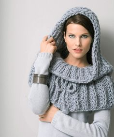This is knitted, but it would be easy to convert it to crochet!!