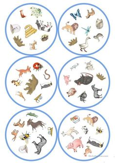 German lessons: Dobble - Animals cards / 8 symbols) - From my HoMe Snoopy Happy Dance, Line Tools, English Games, Woodland Party, English Lessons, Teaching English, Teacher Resources, Board Games, Preschool
