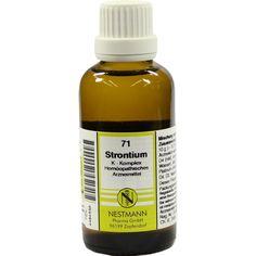 STRONTIUM K Komplex Nr.71 Dilution:   Packungsinhalt: 50 ml Dilution PZN: 04484555 Hersteller: NESTMANN Pharma GmbH Preis: 7,19 EUR inkl.…
