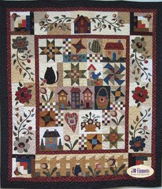 Country Rosewood Cottage Quilt Kit