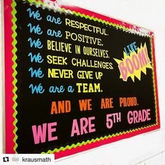 ow awesome is this bulletin board from @krausmath?! Totally saving this for next year. She has some amazing ideas, if you aren't following