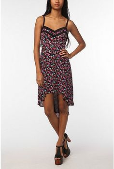 silky chiffon high low midi dress