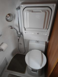 airstream bathroom, small but neat
