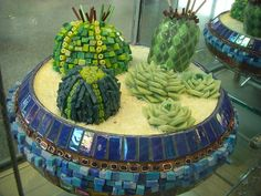 "Sandi Ross' ""Texas Cactus Garden"" -- Austin Airport Exhibit of the Austin Mosaic Guild's work by kinsella5555, via Flickr"