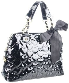 Betsey Johnson BH67815 Satchel,Black,One Size « Holiday Adds