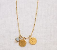 Gold Saturn Chain Charm Necklace